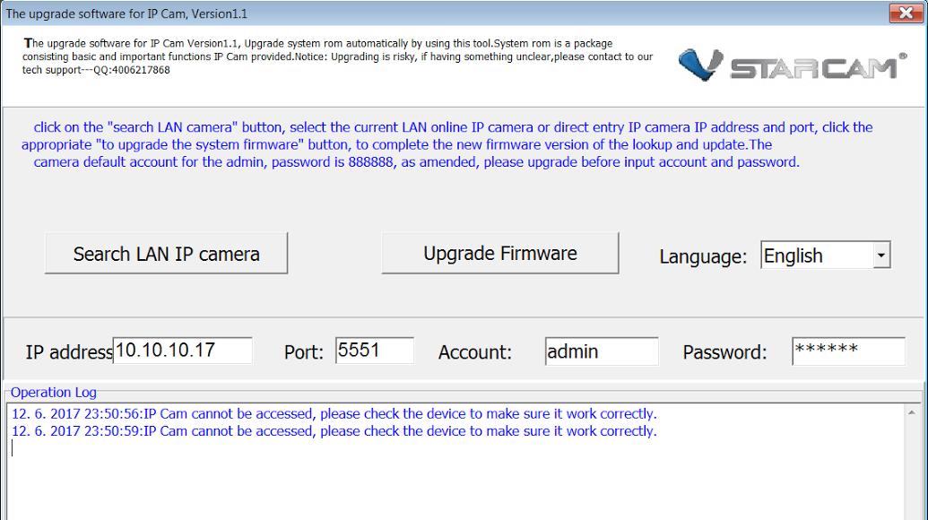 Firmware upgrade disables cameras (!) - C Series - vstarcam