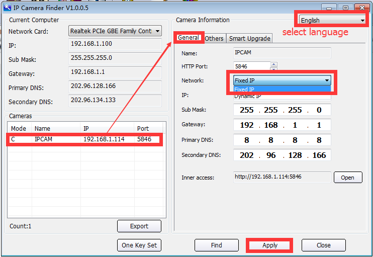 How to add cam by IP? If cam has static ip? - Eye4 Android
