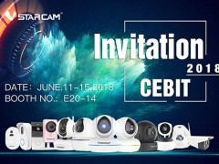 VStarcam invites you to participate in the CeBIT exhibition in Germany in June 2018