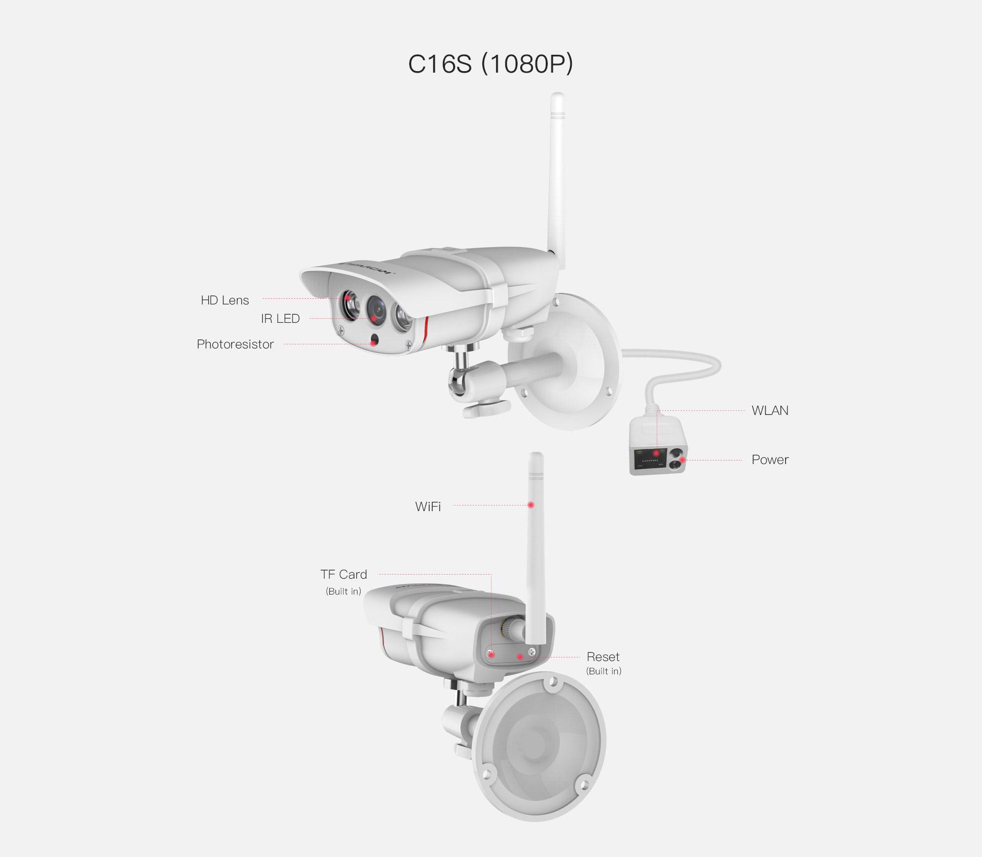outdoor ip camera c16s design