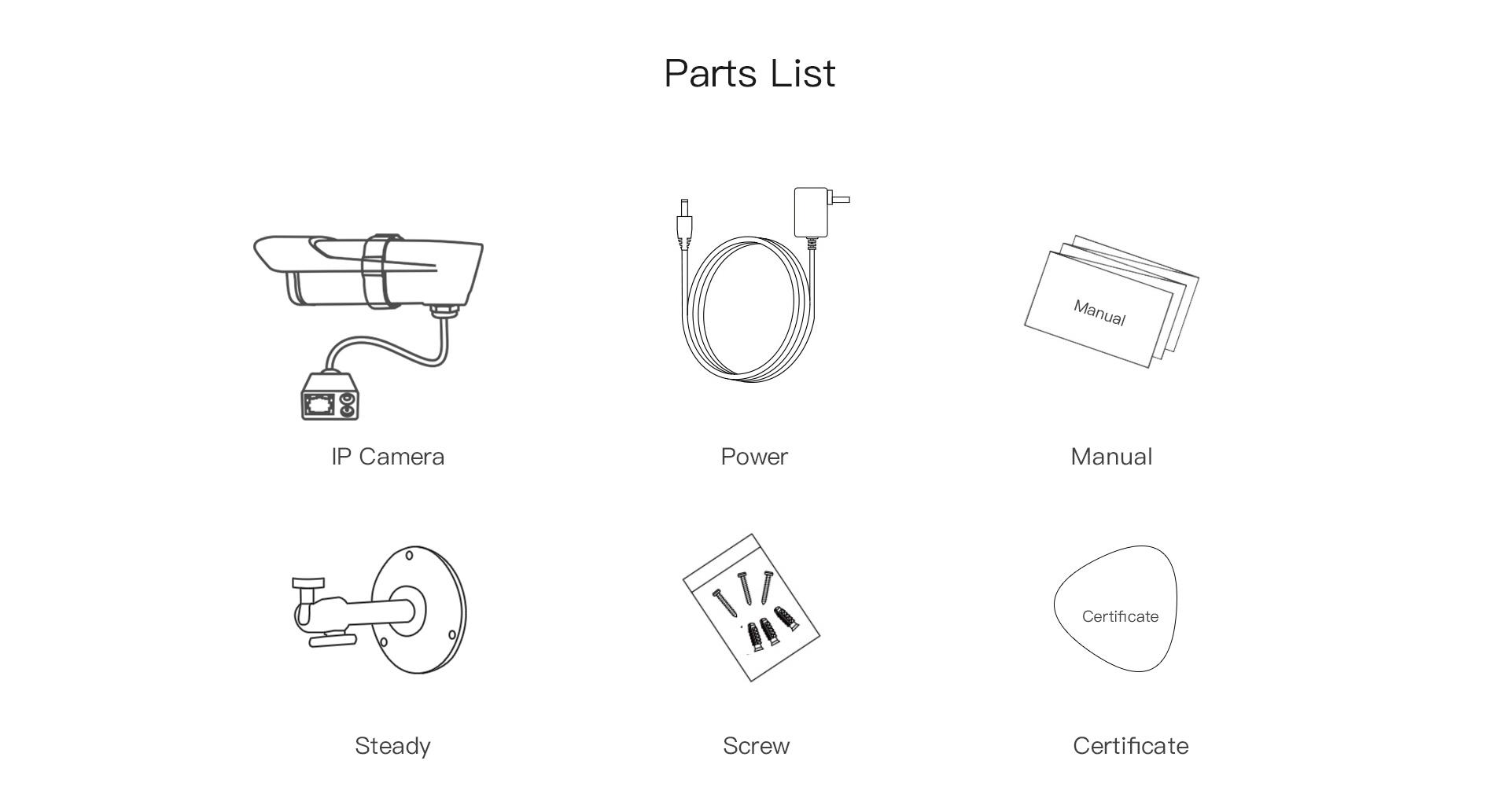 outdoor ip camera parts list