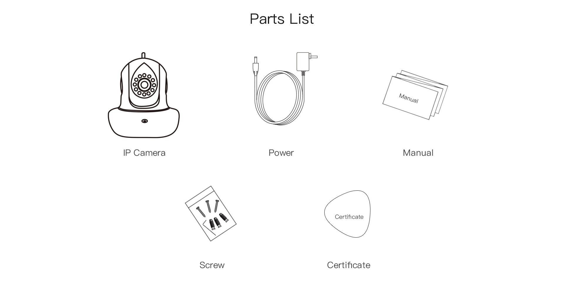 VStarcam product parts list
